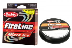 Леска плетеная BERKLEY FireLine Micro Ice Smoke 0.15 45м 1085676