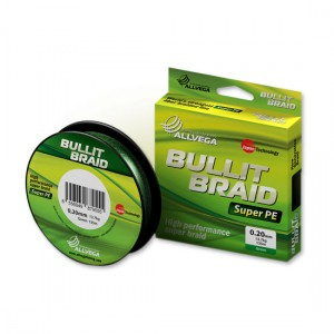 Леска плетеная ALLVEGA Bullit Braid dark green 0.08 92м