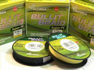 Леска плетеная ALLVEGA Bullit Braid fluo yellow 0.12 92м