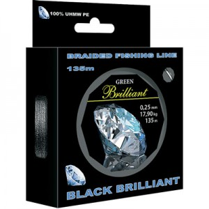 Леска плетеная AQUA Black Brilliant 0.06 135м